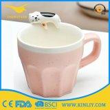 Le GV a délivré un certificat la tasse en céramique de chat de Drinkware avec le modèle mignon