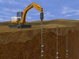 Erstklassige schraubenartige Stapel für PV-System