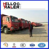 Autocarro con cassone ribaltabile di caricamento di auto di tonnellata 15m3 di HOWO 6X4 25 HOWO
