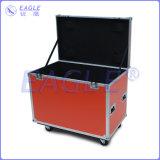 Caso a prueba de choques de aluminio del vuelo de la caja de herramienta del caso para la luz de la IGUALDAD