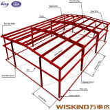 Tipo especial almacén soldado del diseño Q345b/Q235B de la estructura de acero del marco
