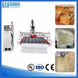 preço Center Process de cinzeladura de madeira da máquina do CNC da gravura 3D automática