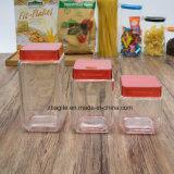 공장 도매 음식 사각 공간 저장 유리병 (100097)