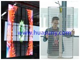 Di P6mm del bene durevole visualizzazione di LED trasparente di vetro della lega di alluminio dell'indicatore luminoso ultra