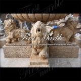 Fontana nera afflitta del leone di Empador per la decorazione Mf-1152 del giardino