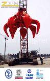 De elektrische Hydraulische Greep van het Huisvuil van het Schroot van het Staal van de Greep van het Ruwijzer van de Grepen van de oranje-Schil