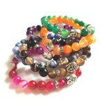 Jóia frisada do bracelete da ágata de cristal da forma (ESB012004)