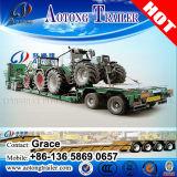 半2つの車軸トラクターのトラックのための低いベッドのトレーラーの使用