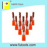 Outil de coupe de vente chaud de carbure de tungstène de 4 cannelures