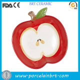Placa cerâmica Shaped da cópia da fruta decorativa