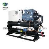 Refroidisseur d'eau à vis refroidi à l'eau de compresseur