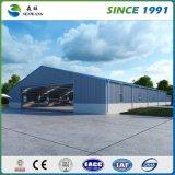 大きいプレハブの金属ライト鉄骨構造の倉庫
