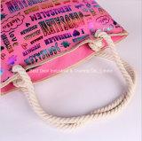 文字の偶然のMian Shengの携帯用ショルダー・バッグを青銅色にする浜袋のキャンバスのハンドバッグの韓国の傾向