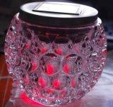 Lampe solaire de jardin de pelouse de camelote en verre RVB