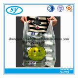 HDPE van de douane Embleem Afgedrukte Plastic het Winkelen van de Markt van de T-shirt Zak