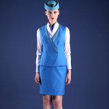 항공 조종사 제복에 있는 여자의 최고 질 항공 제복