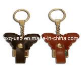 USB di cuoio della farfalla