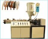 Ligne simple de machine de production de bordure foncée de PVC avec les graines en bois