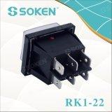 防水照らされた二重ロッカースイッチを離れたのSoken Rk1-22 1X1X2n