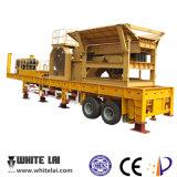 Frantoio del Mobile della pietra del rimorchio di prezzi bassi e di capacità elevata