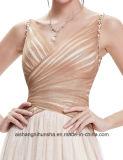 Lange Abend-Partei-Frauen reizvolle V-Stutzen Kleider für Abschlussball-Kleid