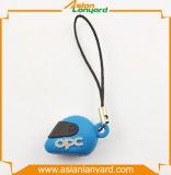 習慣3D PVC携帯電話ロープ