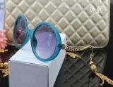 2015 vidros de Sun fêmeas da lanterna da personalidade dos óculos de sol Chain elegantes lindos por atacado do Tassel da senhora Redondo Óculos de sol Grande Caixa (69113)