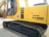 Excavador resistente del camino, excavador resistente usado KOMATSU PC200-6