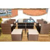 Mobília ao ar livre de jantar o jogo para o jardim com aço/GV (601)