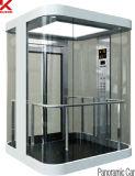 小型機械部屋が付いている観光のエレベーター