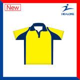 Healong 최신 판매 가득 차있는 승화 숙녀 폴로 셔츠