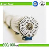 Conductor de aluminio ACSR reforzado acero del cable aéreo de la alta calidad ACSR