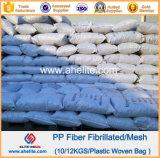 Buena dispersión de alta tenacidad de alta resistencia de la fibra de polipropileno fibrilada hormigón
