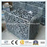 Het Metaal die van het pakhuis de Kooi /Container vouwen van het Netwerk van de Draad