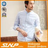 Chemise de robe d'ajustement de longues chemises de modèle de mode des hommes modernes de coton