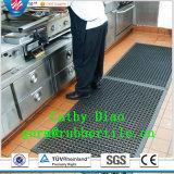 安定したマットの屋内排水のゴム製マットの台所スリップ防止ゴム製マットオイル抵抗のゴムマットをかみ合わせる反スリップ