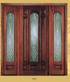 Amerikanischer Standardmahagonieingangs-Glastür für Landhaus
