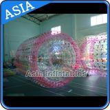 Transparente bola de rodillo de agua inflables, inflable flotante rodillo de agua de la bola, parque de atracciones de Aqua Juguetes Inflar el globo inflable del rodillo Rolling Ball Agua