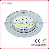 소형 LED는 보석/시계/다이아몬드/예술가 내각/진열장/반대에서 아래로 점화한다 (LC7266A)