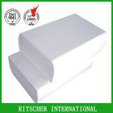 Papier de serviette de Livre Blanc de fois du pli 1/4 de la taille 2 de 25*25 cm