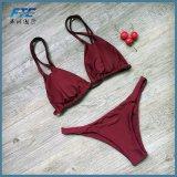 Zweiteiliges Strand-Polyester-reizvoller Badeanzug-Schwimmen-Abnützung-Bikini