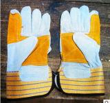 Перчатки промышленного двойного износа ладони неровный работая