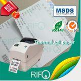 Transferência térmica BOPP etiqueta o material plano para a impressora de código de barra