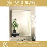 Glace de miroir gâchée par salle de bains avec le bord taillant, les différentes tailles et les formes