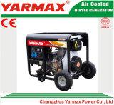 Groupe électrogène diesel refroidi par air à faible bruit de bâti ouvert de moteur diesel de Yarmax Genset Ym6500eb-I