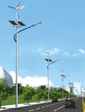 7m Pole 50W LED Solarwind-Turbine-Straßenlaterne