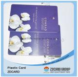 Cartão de sociedade impresso do ouro dos cartões selo plástico
