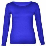 T-shirt van de katoenen Koker van Vrouwen de Lange