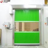 Дверь завальцовки PVC промышленной мастерской пакгауза высокоскоростная с радиолокатором