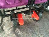 Het vouwen van Wagen met het Wiel en de veiligheidsgordel van de Rem